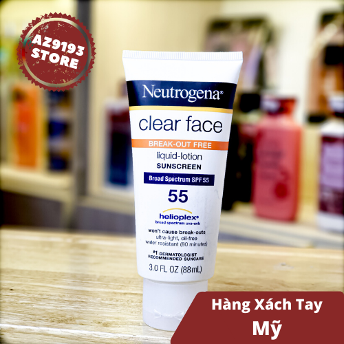 Kem Chống Nắng Neutrogena Clear Face Oil-Free SPF55 88ml
