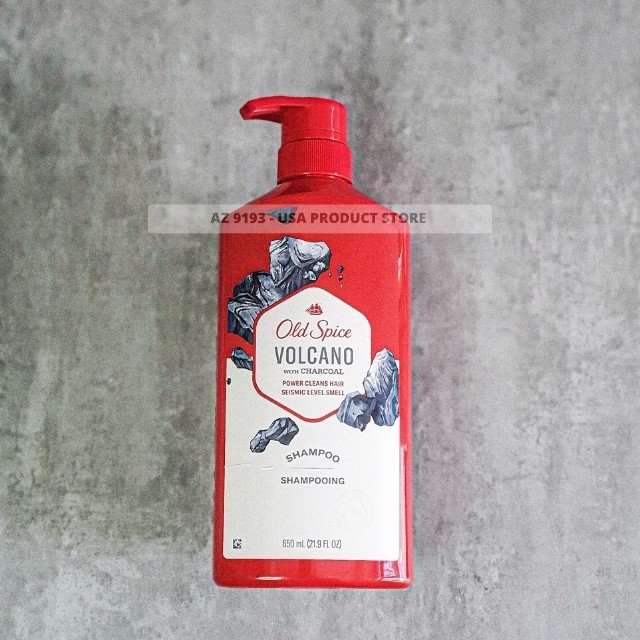 Dầu Gội Nam Old Spice VOLCANO with Charcoal 650ml (21.9 oz)