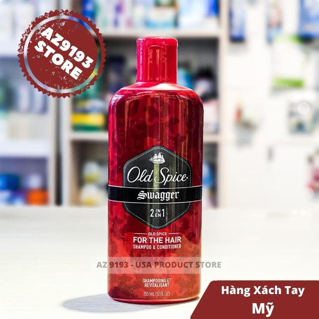 Dầu Gội Xả 2 trong 1 Old Spice Swagger 355ml (12oz)