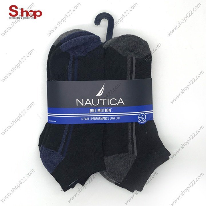 Vớ Nautica Nam Low Cut Dri Motion 6 Đôi 856