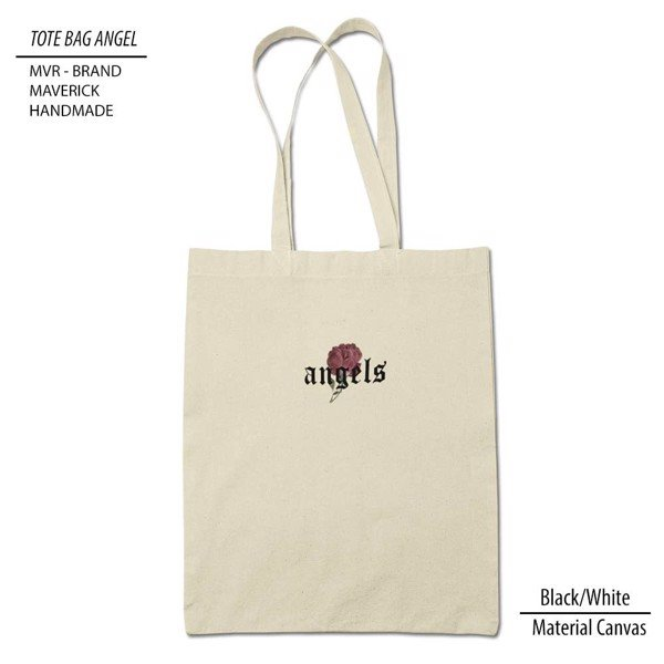 Tote bag Rose Angel White