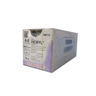 Vicryl Plus Vi 4/0 70cm 22mm 1/2c Jb-1 Violet Braided Vcp310h