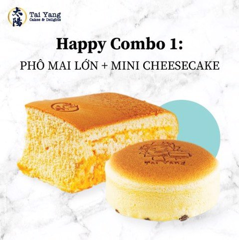 Happy Combo 1: Phô Mai Lớn + Mini Cheesecake