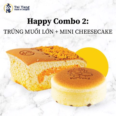 Happy Combo 2: Trứng Muối + Mini Cheesecake