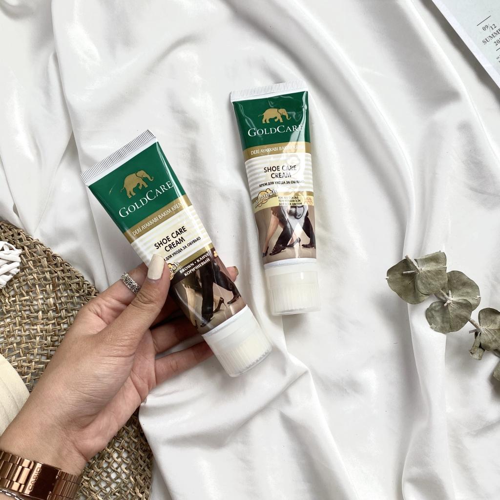 Hình ảnh Xi đánh giày cao cấp Goldcare dạng tuýp kem - Dùng được cho áo da, túi xách, sofa da