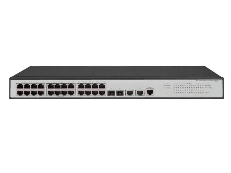 HPE OfficeConnect 1950 24G 2SFP+ 2XGT PoE+ Switch - JG962A