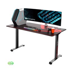 Eureka Ergonomic® 60'' Large Home Office Gaming Computer Desk with Square Legs, Plenty of Working and Gaming Space, Black