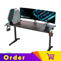 Eureka Gaming Colonel Series GIP 55'' E-sports Home Office Computer Desk With RGB Lighting