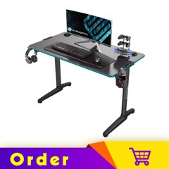 Eureka Gaming Colonel Series GIP 44'' Home Office E-sports Computer Desk With Fiber Optic RGB Lighting