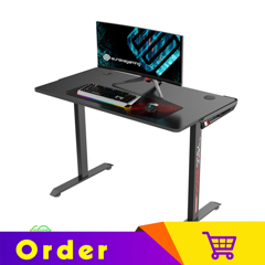 Eureka Ergonomic 'I' Shaped 45'' I1-S Home Office Gaming Computer Desk, Black