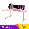 Eureka Gaming L Shaped 60'' Pinky Home Office E-sports Computer Desk, Lovely Computer & Gaming Setup, Left Side