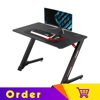 Eureka Ergonomic® 43'' Z Shaped Small Gaming Computer Desk, Home Office Gaming Computer Table