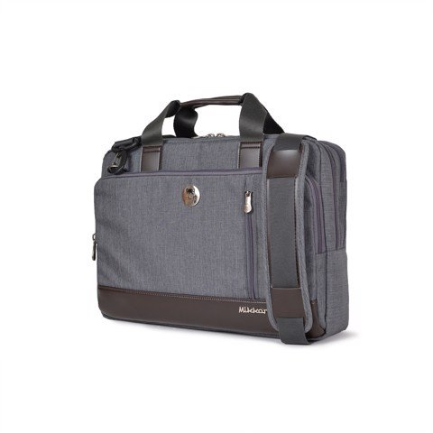 The Ralph Briefcase-Dark mouse grey