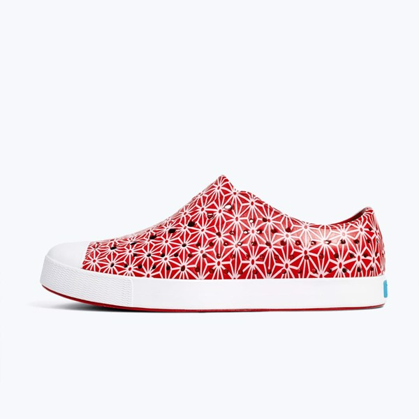 GIÀY NATIVE AD JEFFERSON PRINT (11100101) TORCH RED/ SHELL WHITE/ ASANOHA