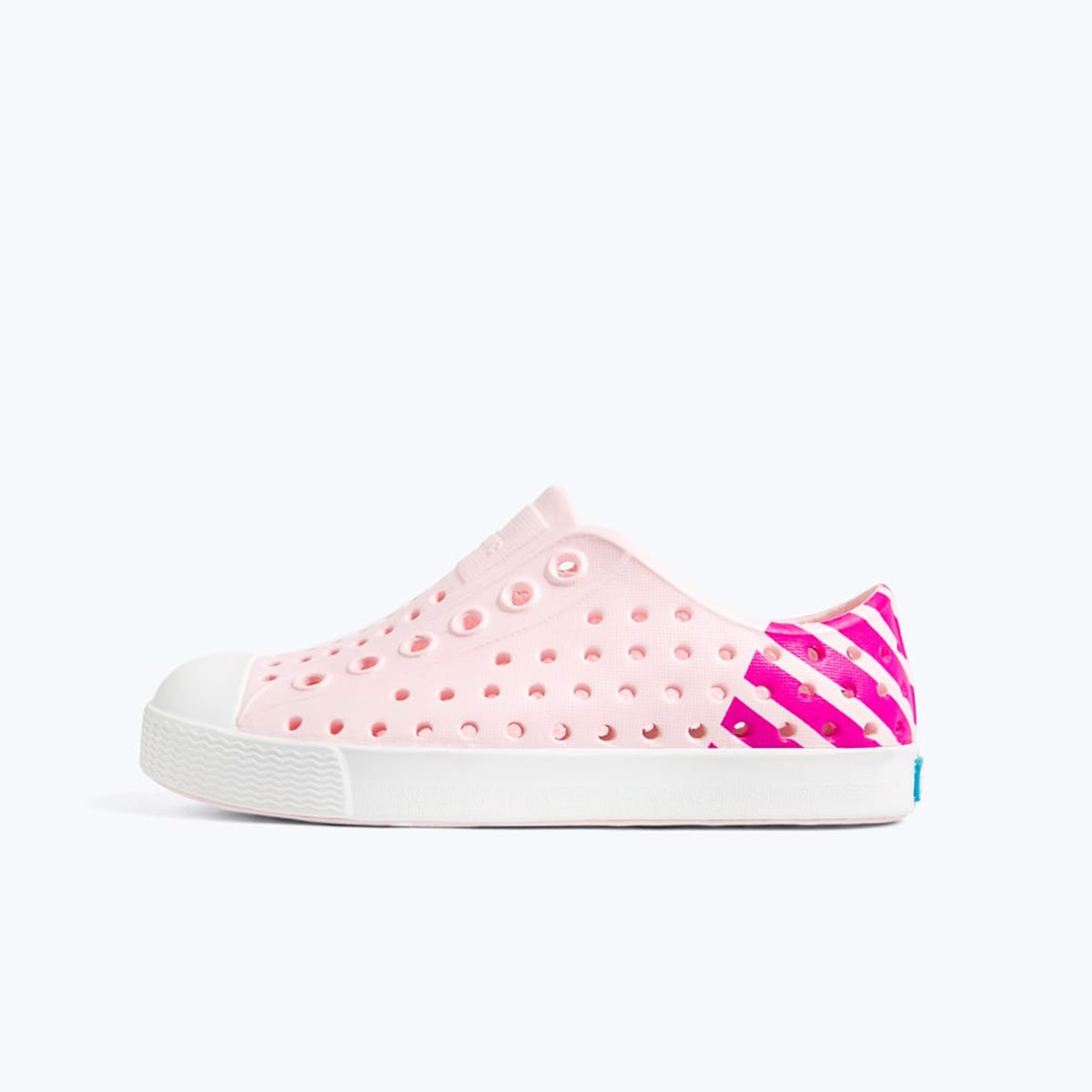 Giày native j jefferson block junior (12100102) blossom pink/ shell white/ festival glow block