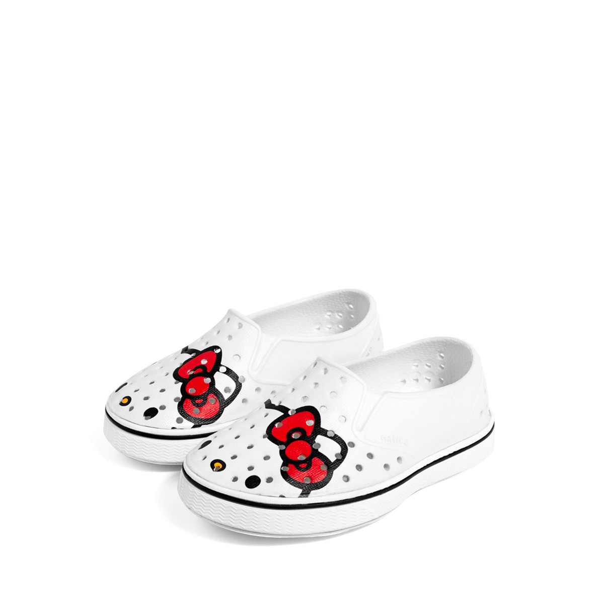 Giày native j miles print junior (12104601) shell white/ shell white/ hello kitty