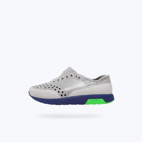 Giày native j lennox block junior (12105002) pigeon grey/ regatta blue/ grasshopper green/ tundra block