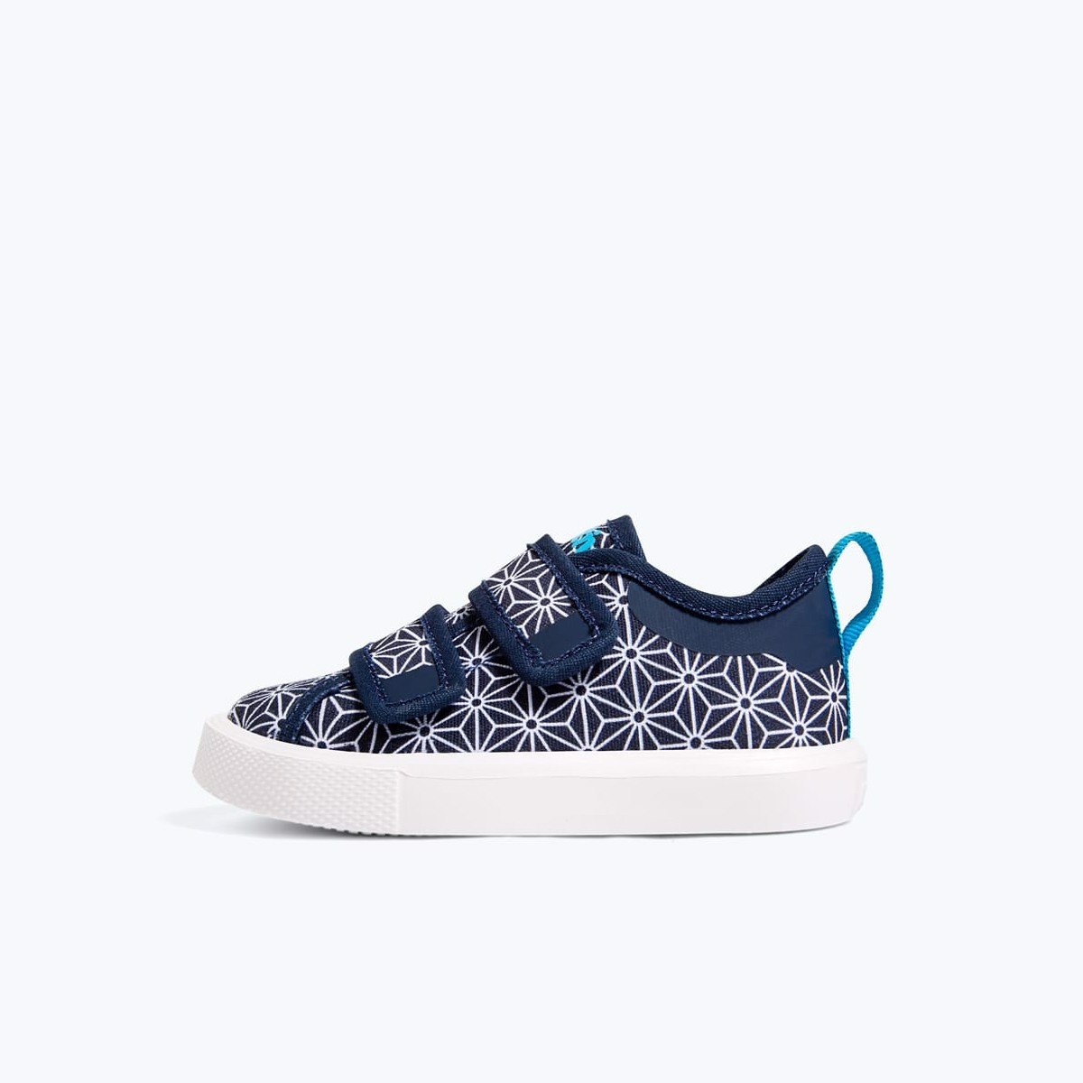 GIÀY NATIVE C MONACO VELCRO CANVAS CHILD (23104429) HYDRANGEA BLUE/ SHELL WHITE/ ORIGAMI