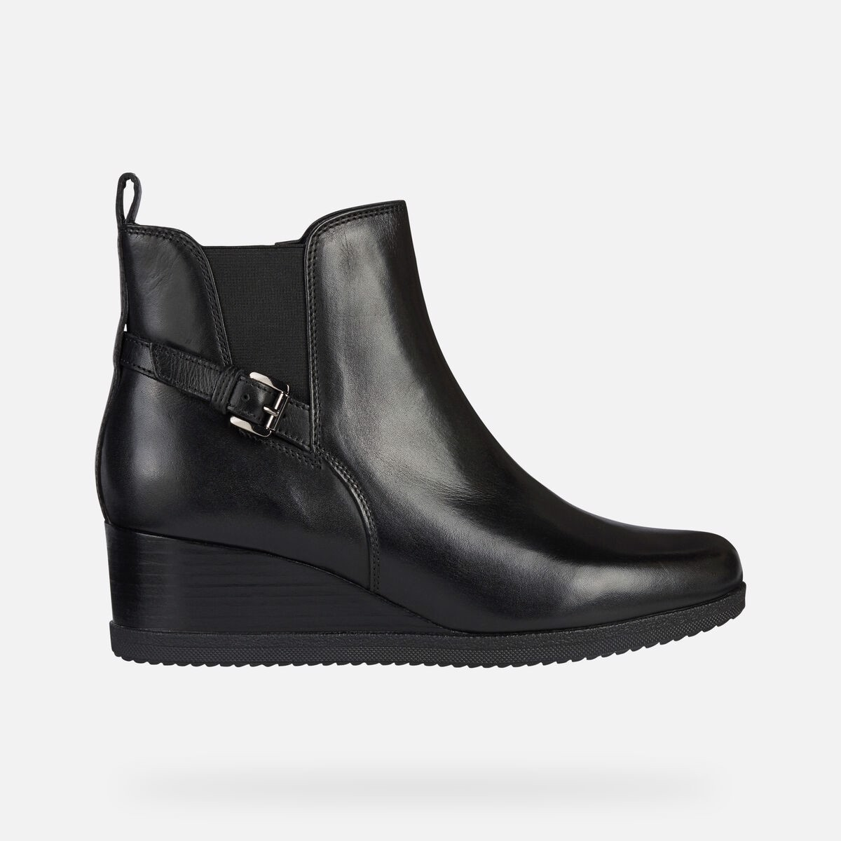 Giày Boots Nữ Geox D Anylla Wedge C - Smo.Lea