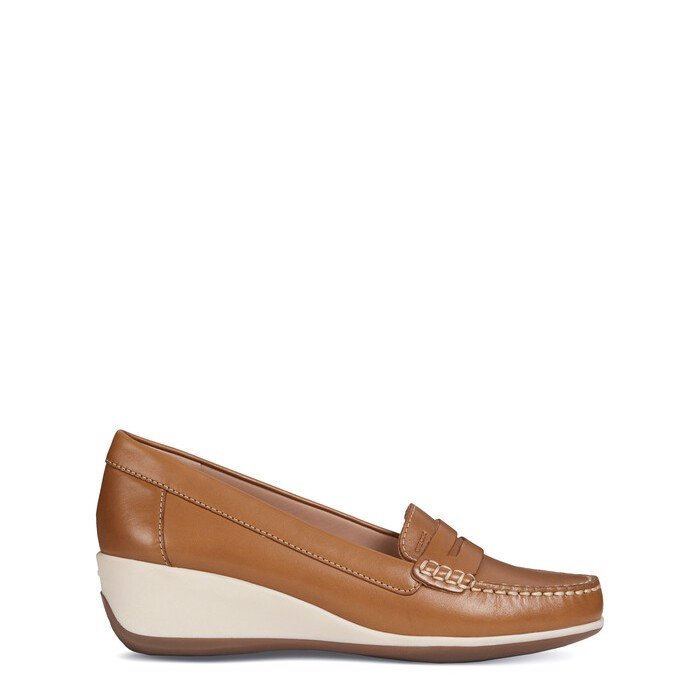Giày geox d arethea b (d621sb) smooth leather curry