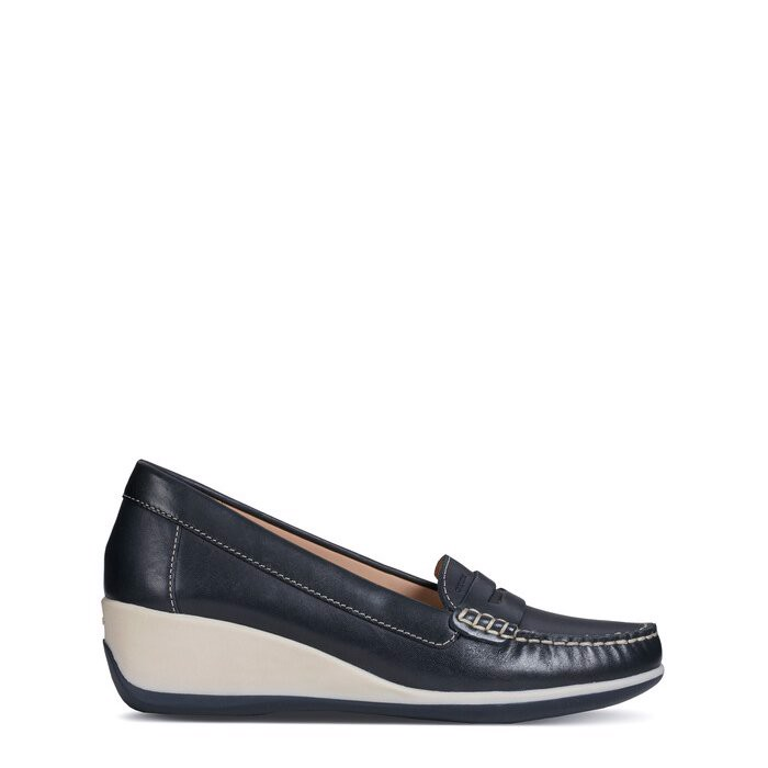 Giày geox d arethea b (d621sb) smooth leather navy