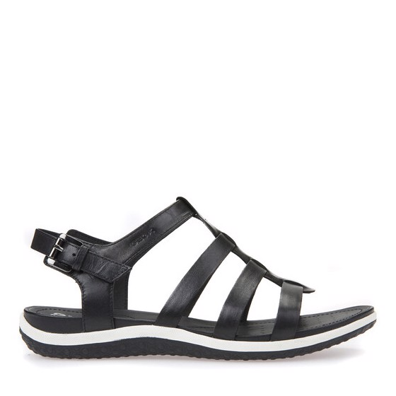 Giày sandals geox d sand.vega a (d72r6a) smooth leather black