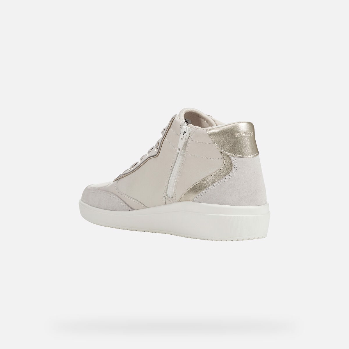 Giày sneaker geox d tahina e (d94bde) nappa+suede off white