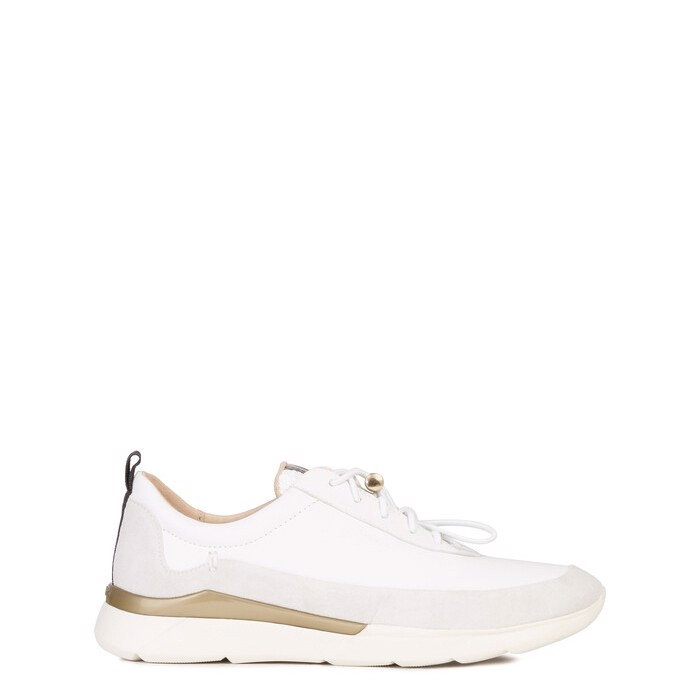 Giày sneaker geox d hiver d (d94fhd) nappa+suede white/off white