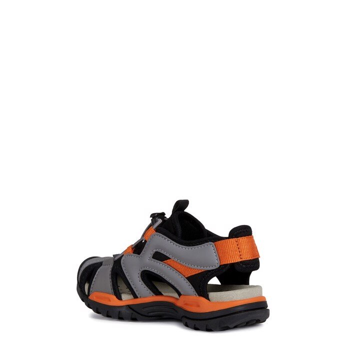 Giày sandals geox j borealis b. c (j920rc) lycra+geobuck black/orange
