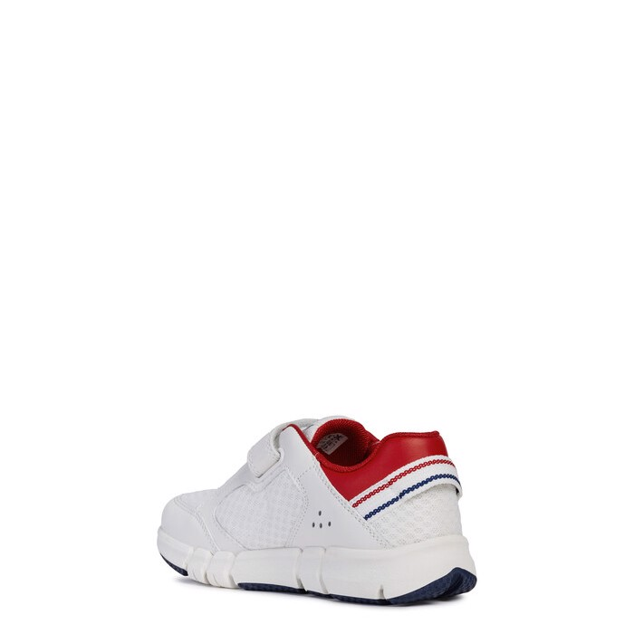 Giày sneaker geox j flexyper b. b (j929bb) mesh+smooth white/red