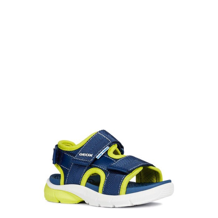 Giày sandals geox j s.flexyper b. b (j929db) text+mesh navy/lime