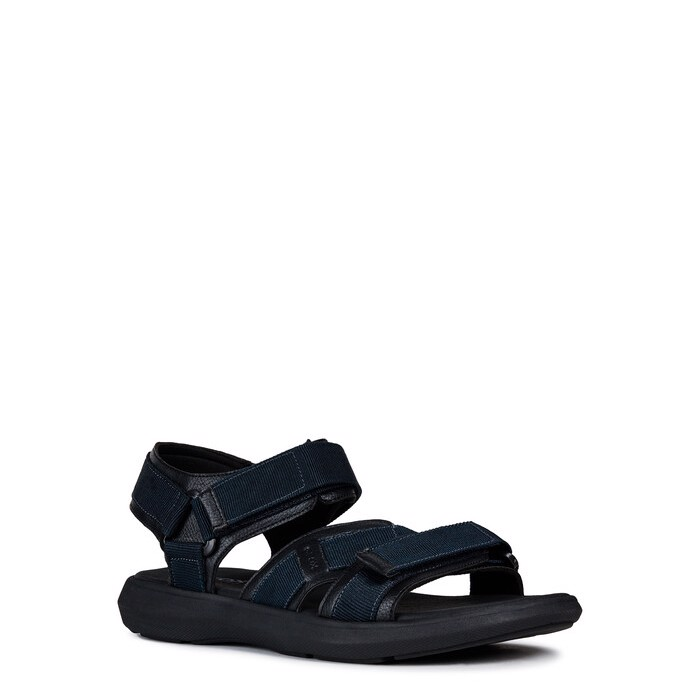 Giày sandals geox u goinway b (u926vb) text+syn.lea. navy/black