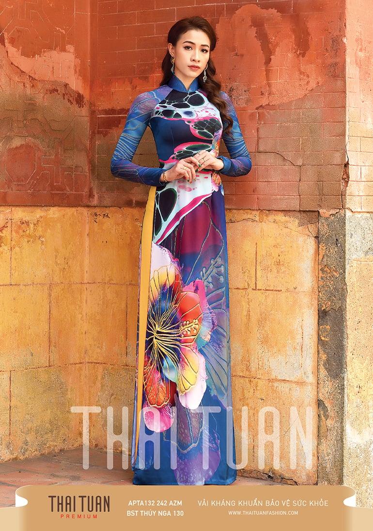APTA132-242-AZM | Vải Áo Dài Thái Tuấn Premium