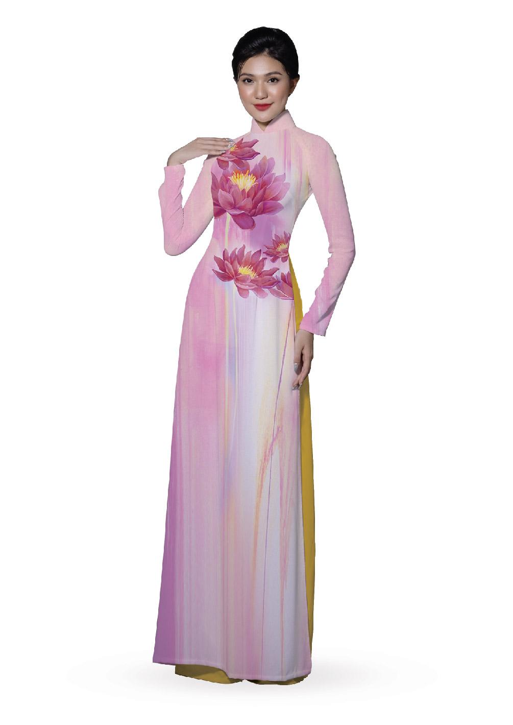ASBR533-346-DR0 | Vải Áo Dài Hoa Văn In