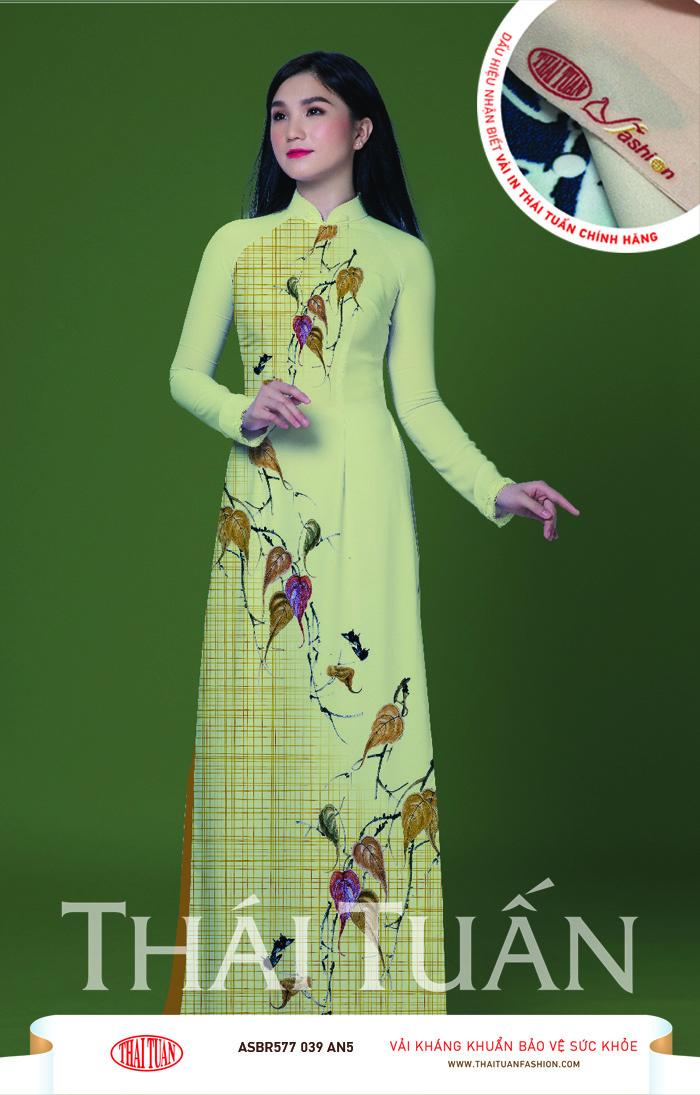 ASBR577-039-AN5 | Vải Áo Dài Hoa Văn In