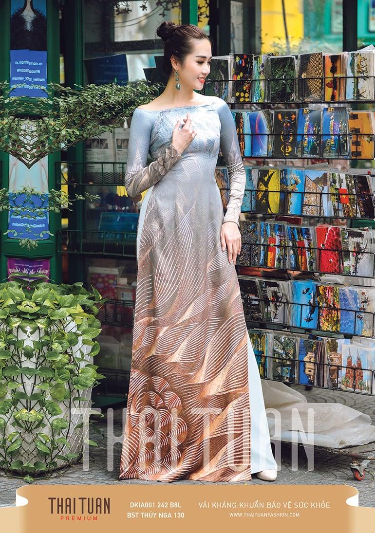 DKIA001-242-B8L | Vải Áo Dài Thái Tuấn Premium