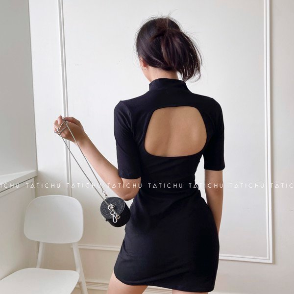 High Neck Backless Dress