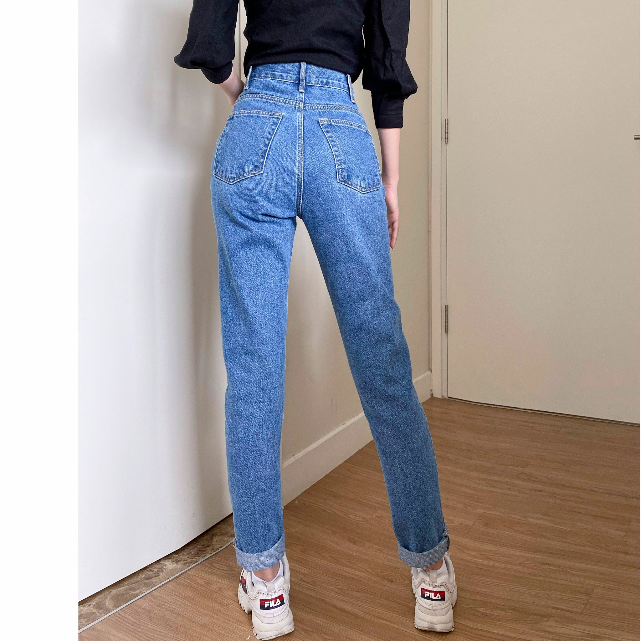 Cut-Out Jeans
