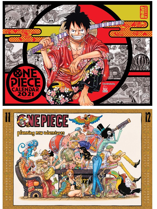 Lịch Treo Tường One Piece 2021
