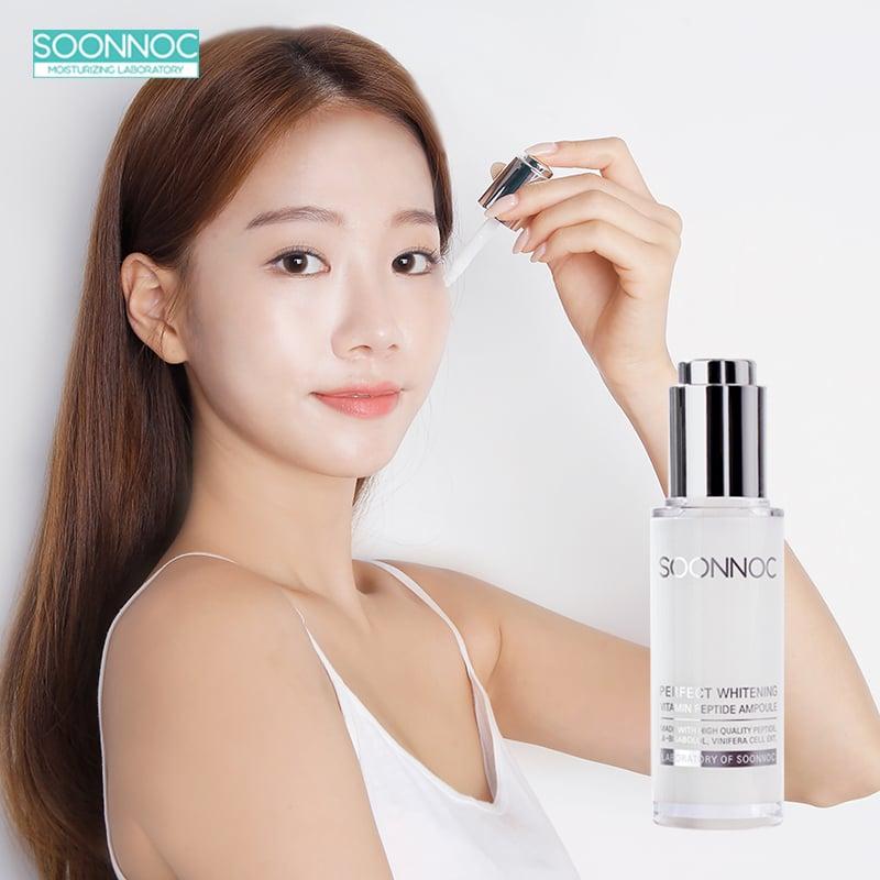 [8/3 Event] Tinh Chất Dưỡng Da và Làm Trắng Soonnoc Perfect Whitening Vitamin Peptide Ampoule
