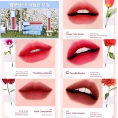 Son Kem Black Rouge Air Fit Velvet Tint Ver6 Blueming Garden