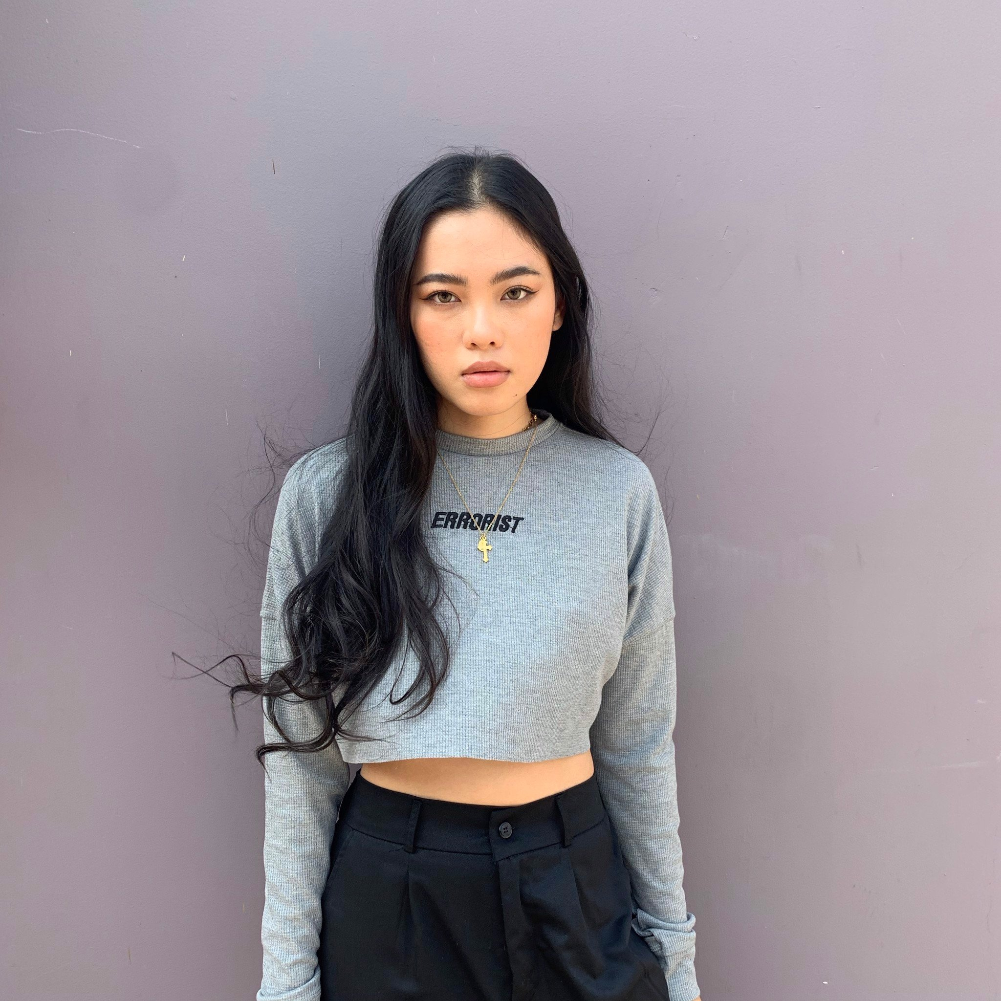 WIDE SWEATER CROPTOP