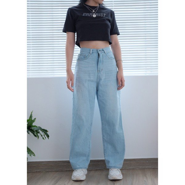WIDE LEG JEANS- LIGHT WASH