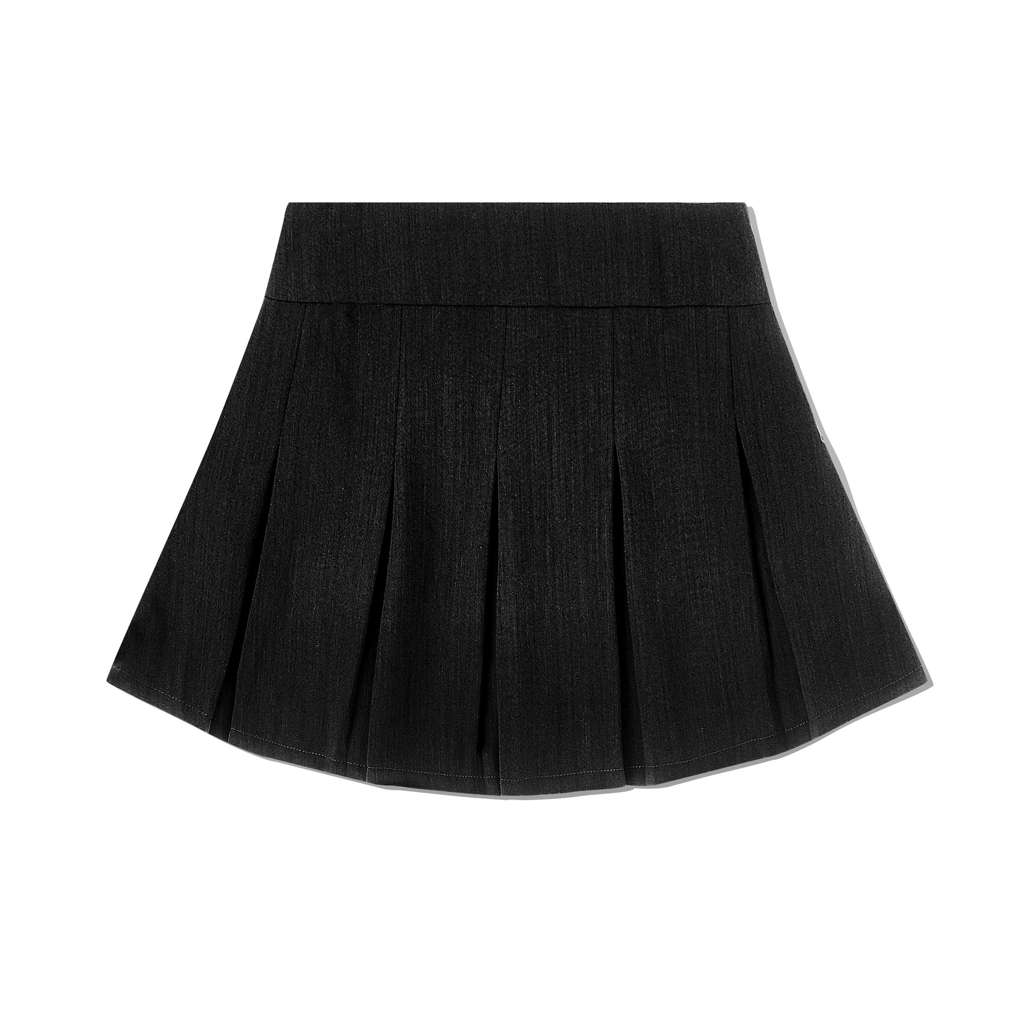 90'S PLEATED SKIRT GREY