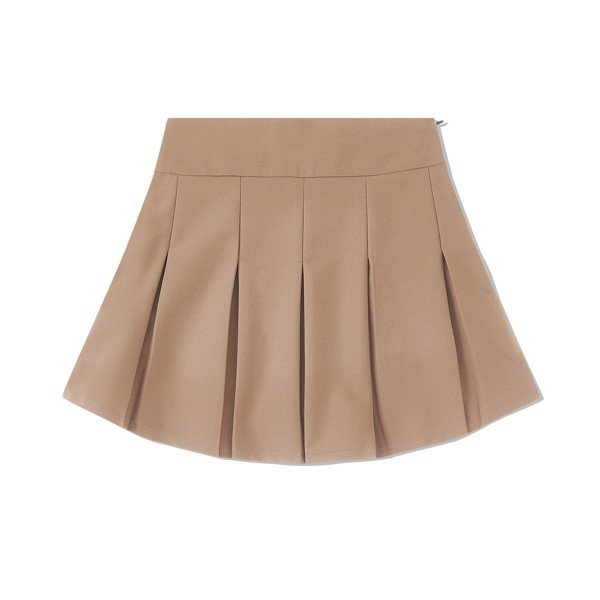 90's PLEATED SKIRT BROWN