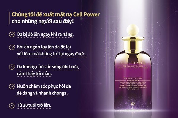 CellPower - Time Zero Solution Mask - Mặt nạ dưỡng da