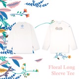 + FLORAL LONG SLEEVE /WHITE