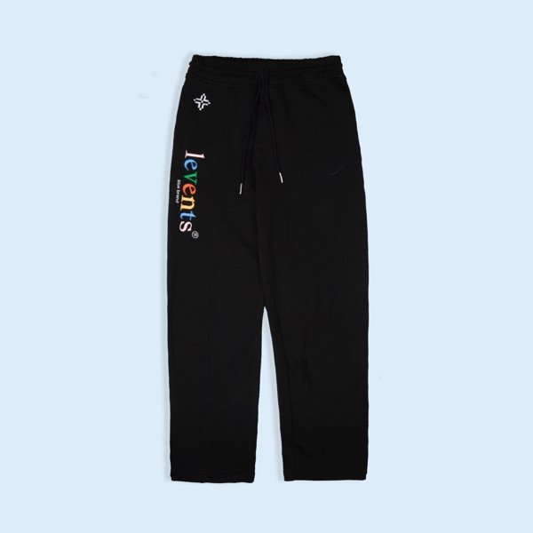+LVS FLORAL SWEATPANTS/BLACK
