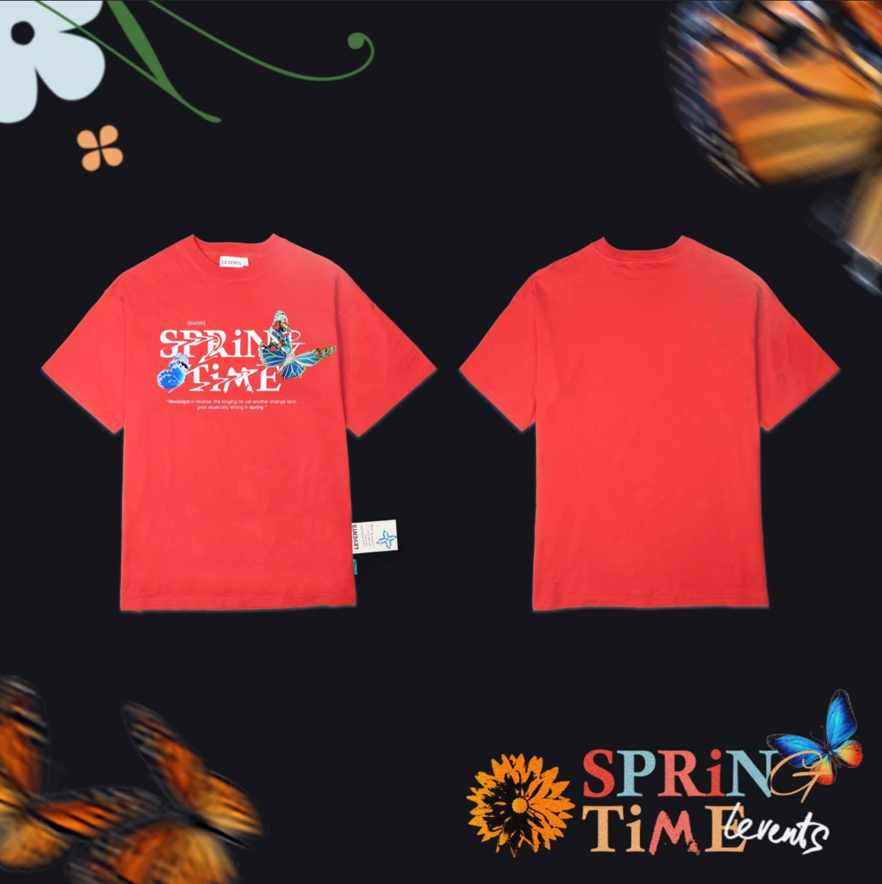 LVS SPRING TIME TEE/ RED