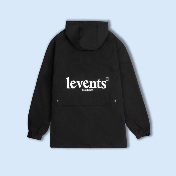 +LVS HALF ZIP JACKET/ BLACK